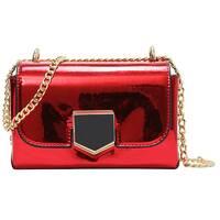 STK Червона лакова сумка через плече