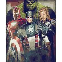 STK Картина по номерам Мстители, цветной холст, 40*50 см, без коробки Barvi