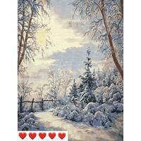 STK Картина по номерам Зима, цветной холст, 40*50 см, без коробки, ТМ Barvi+ ЛАК