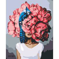 STK Картина по номерам Розовые пионы, Эми Джадд, цветной холст, 40*50 см, без коробки Barvi