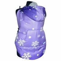 Слингонакидка зимова фіолетова з сніжинками (різноколірні теж запитуйте)