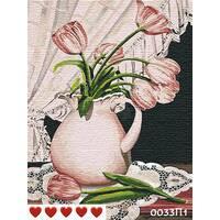 STK Картина по номерах Тюльпани, кольорове полотно, 40*50 см, без коробки Barvi