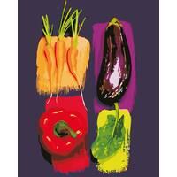 """STK Картина по номерах """"Якие овочі"""" 40*50 см в коробці, ArtStory   акриловий лак"""