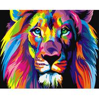 STK Картина по номерах Веселковий лев, Брашми, 40*50 см
