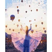 STK Картина по номерах. Каппадокія, повітряні кулі, 40*50 см, Brushme, без коробки