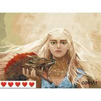 STK Картина по номерах Дівчина з драконом, кольорове полотно, 40*50 см, без коробки Barvi