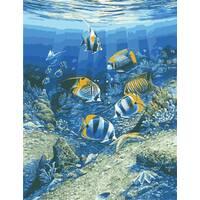 """STK Картина по номерах """"Світ під водою"""" 50*65 см в коробці, ArtStory   акриловий лак"""