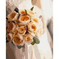 STK Картина по номерах. Букет персикового кольору, 40*50 см, Brushme, без коробки