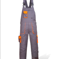 ПОЛУКОМБИНЕЗОН TX12 серый с оранжевыми вставками