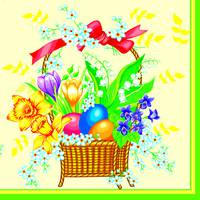"Серветка  ТМ "" Luxy""  ЗЗхЗЗ,  3 шари ""Великоднева весна"" 20шт."