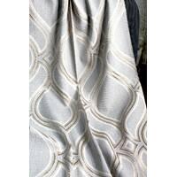 Ткань для штор абстракция натуральная основа Кофейный