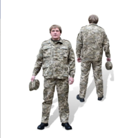 Костюм военно-полевой, рисунок Пиксель