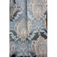 Ткань для штор в классическом стиле корона Бирюзовый
