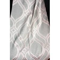 Ткань для штор абстракция натуральная основа Розовый