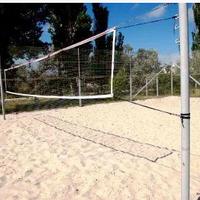 Стойки пляжного волейбола с крючками на растяжках