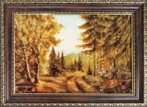 "Картина із бурштину ""Гора Говерла"" 20х30 см"