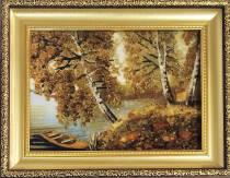 "Картина з бурштину ""Човник"" 15х20 см"