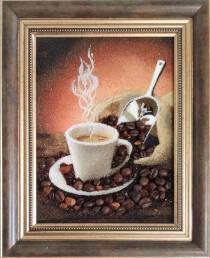 "Янтарная картина ""Кофе"" 15х20 см"