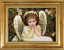 """Картина в дитячу кімнату із бурштину """"Янгол"""" 15х20 см"""