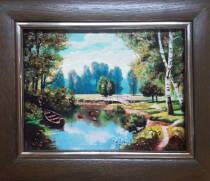 """Картина із бурштину """"Початок літа"""" 15х20 см"""