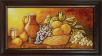 """Картина из янтаря """"Натюрморт на кухне"""" 20х40 см"""