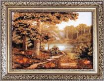 """Бурштинова картина """"Осінь"""" 20х30 см"""