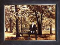 Оригінальний портрет з бурштину