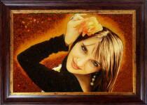 Подарунковий портрет з бурштину