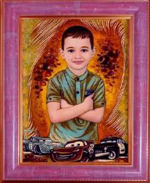Ексклюзивний портрет з бурштину