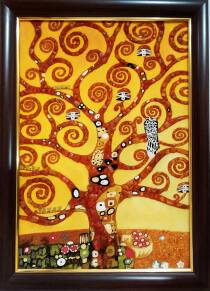 "Картина из янтаря ""Дерево жизни"" 40х60 см"