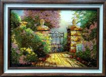 """Картина із бурштину """"Ворота"""" 40х60 см"""