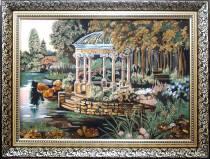 """Картина із бурштину """"Альтанка"""" 40х60 см"""