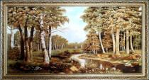 """Картина из янтаря """"Лесная речка"""" 100x60 см"""