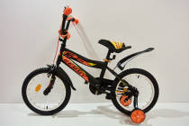 """Велосипед 16""""- Remmy BOSS черно-оранжевый матовый"""
