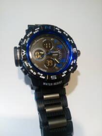 Часы мужские, quamer, влагозащита, подсветка, будильник