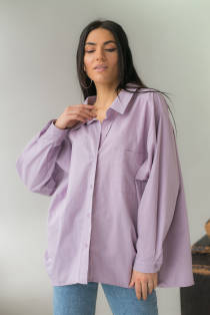 PERRY Сорочка жіноча оверсайз - лавандовий колір, S
