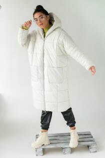 KAKTUS Жіноче пальто оверсайз  - молочний колір, L