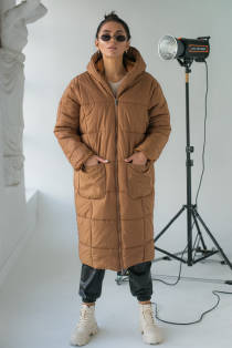 KAKTUS Жіноче пальто оверсайз  - св-коричн колір, L