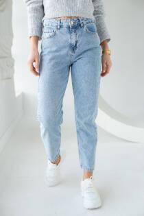 PERRY Жіночі джинсы-мом - блакитний колір, XL