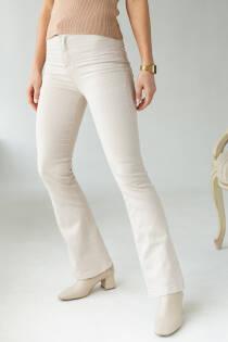 PERRY Жіночі джинси кльош з високою посадкою - бежевий колір, M