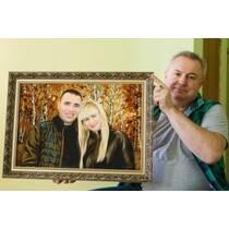 Пропонуємо замовити портрет з бурштину