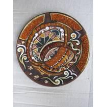 Живописна тарілка з кольорового бурштину
