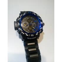 Чоловічий годинник з металевою вставкою в ремені в наявності