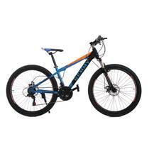 Велосипед 26 Remmy VICTORY AM DD 14 Черно-оранжево-голубой глянец