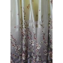 Штори тканина блекаут весняні квіти рожеві купити в Луцьку