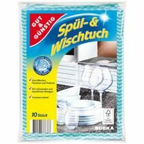 Салфетки для уборки GUT&GUNSTIG Spul & Wischtuch 10 шт. Германия