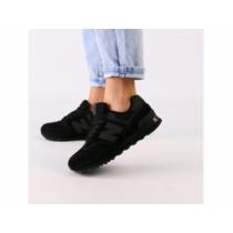 Женские черные замшевые кроссовки с черными кожаными вставками 38