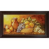 """Картина із бурштину """"Натюрморт на кухні"""" 20х40 см"""