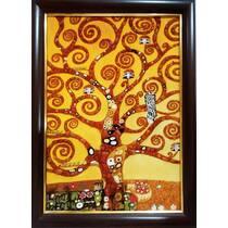 """Картина з бурштину """"Дерево життя"""" 40х60 см"""