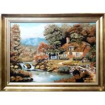 """Картина із бурштину """"Кам'яний місток"""" 40х60 см"""
